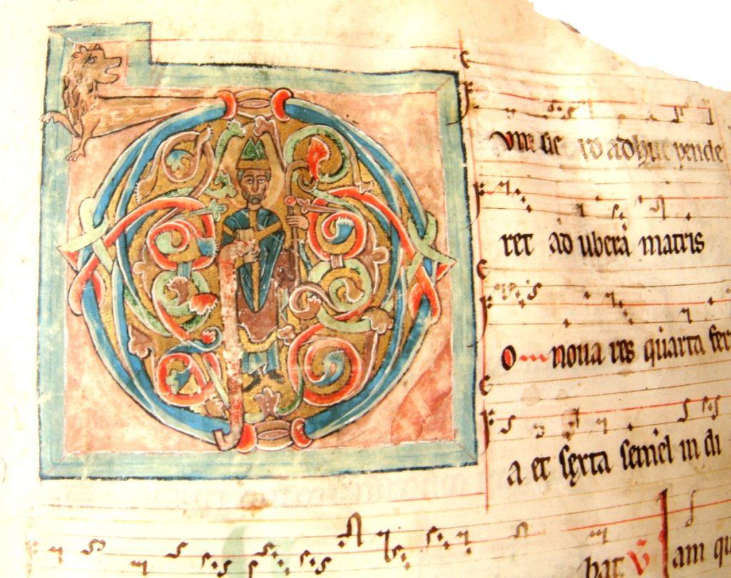 Miniatura z antyfonarza z przełomu XII i XIII w.