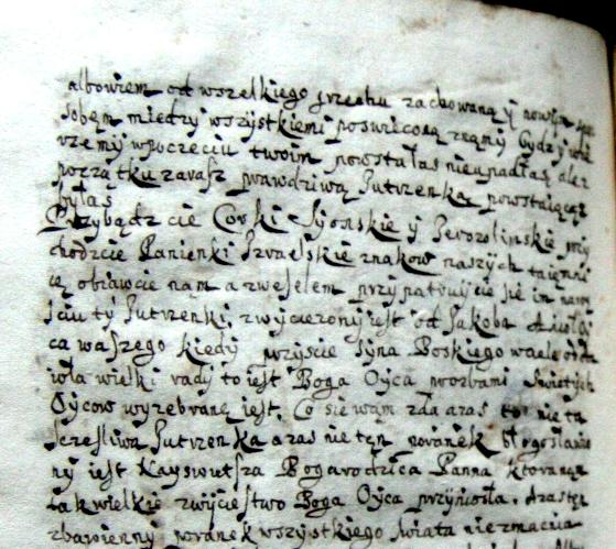 Pismo kursywne z II poł. XVII w.