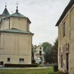 """Widok tzw. """"długich"""" perspektyw założenia urbanistycznego zespołu kościelno-klasztornego z XVIII w."""