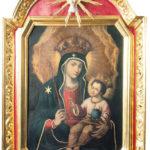 """Obraz olejny Matki Bożej z Dzieciątkiem – """"Zbawienie Ludu Rzymskiego"""" z końca XVIII w.,"""
