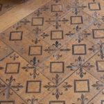 Podłoga dębowa chóru zakonnego