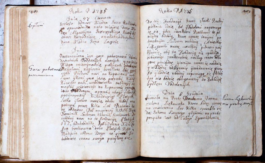 "Fragment ""Historii domowej..."" Ksieni Zofii Grothówny"