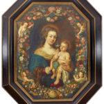 """Obraz olejny """"Madonna w girlandzie"""" – Jan Breughel Starszy (XVII w.)"""