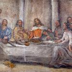 Scena z Ostatniej Wieczerzy – fresk sklepienny refektarza