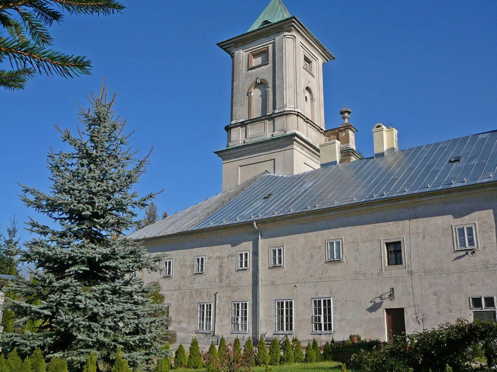 Elewacja zachodnia klasztoru