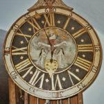 Widok tarczy zegara gdańskiego